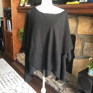 Adrianna Papell Beaded Black Blouse Size 16